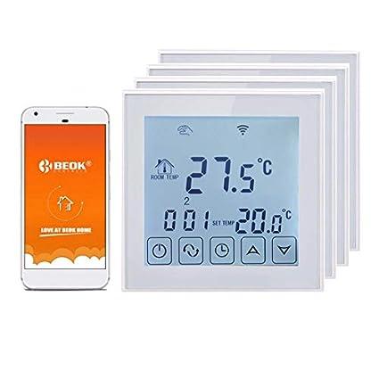 Beok TDS23WIFI-EP - Termostato digital inalámbrico para calefacción eléctrica bajo el suelo, con