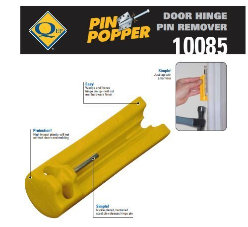 Door Hinge Pin Remover - Easily Removes Hinge Pin