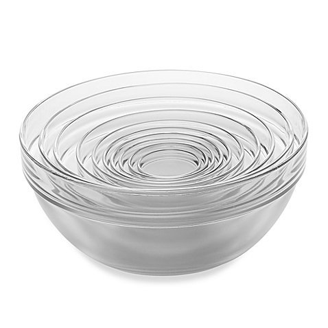 - 10-Piece Tempered Glass Nesting Mixing and Prep Bowl Set comes in Microwave and dishwasher safe.