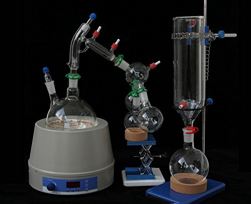 Glass Short Path Distillation Kit With Cold Trap and Magnetic Heating Mantle 2000ml