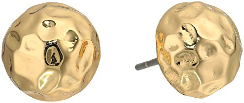 t-tahari-hammered-dome-gold-stud-earrings