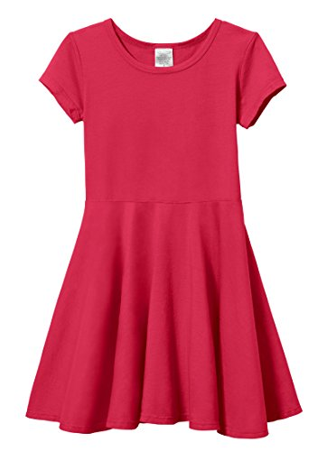 City Threads Big Girls' Short Sleeve Twirly Circle Party Dre