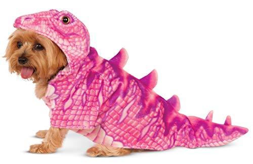Pink Dino Hoodie for Pet, Medium -