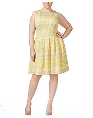 Calvin Klein Womens Printed Sleeveless Scuba Dress