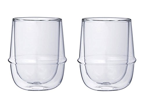 Double-Walled Kinto KRONOS Cup - Maintains Temperature - Prevents Condensation - Set of Two