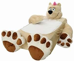 Incredibeds Kids Bed Childs Toddler Teddy Bear Beige Frame With FREE BLANKET