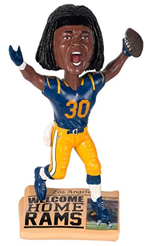 Forever Collectibles Todd Gurley Los Angeles Rams Special Edition Newspaper Base Bobblehead NFL