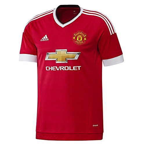 Utd Man Soccer (adidas Mens Climacool Manchester United Home Replica Soccer Jersey Large)