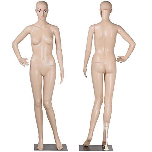 "Yaheetech 68.9"" Female Mannequin Torso Dress Form Display W/Base Plastic Slapped Adjustable Dressmaker Dummy Detachable"