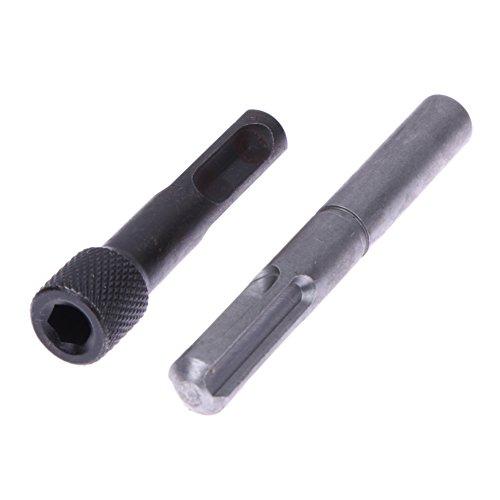 Best Garden Tools 2PCS Chrome Vanadium Steel Hex Shank Screwdriver Holder Drill Bit Adaptor SDS Shank Firm Linking 1/4 Converter Socket Nut UC# by Best Garden Tools