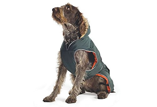 Medium Ancol Muddy Paws Green Parker Parka with Chest Predector Puppy Dog Winter Jacket Medium
