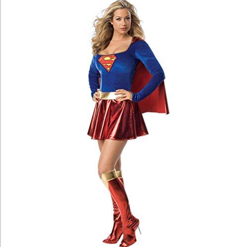 Role play Female superman's uniform Halloween Party Uniform Cosplay ()