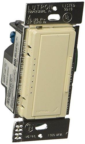 Location 1000 Watt Dimmer - Lutron MRF2-10D-120-LA Maestro Wireless 1000 Watt Multi-Location Dimmer, Light Almond