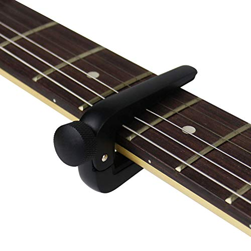 Rahano Zinc alloy Universal Guitar Capo Adjusting For Electric Acoustic Classical Guitar Ukulele Clamp Trigger Black Silvery Color