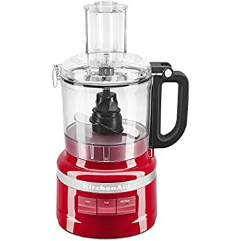 KitchenAid KFP0718ER 7-Cup Food Processor Chop, Puree, Shred and Slice - Empire Red