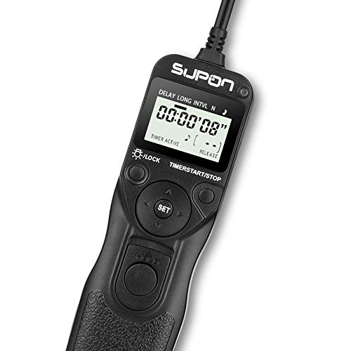 SUPON Replacement RM-VPR1 LCD Timer Shutter Release Cord Compatible for Sony Alpha A7 A7S A7R A3000 A7M2 A7R2 A7II A7III A7RIII A7SIII A5000 A6000 A58 RX100M2 RX100M3 NEX-3N HX50 HX60 HX300 HX400 etc