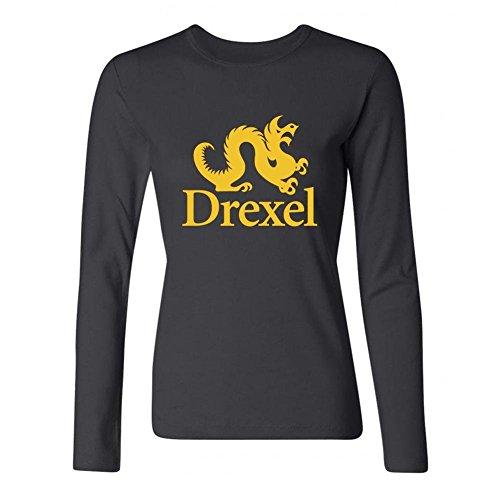 Ptshirt.com-118-Women\'s Drexel Dragons Long Sleeve DIY T Shirt-B01FQIJGPK-T Shirt Design