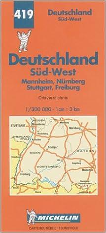 Michelin Germany Southwest Map No 419 Michelin Maps Atlases