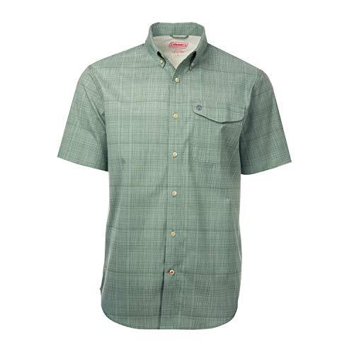 Classic Short Sleeve Dobby Yard Dyed Guide Shirt (XX Large, Olive)