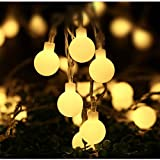 Arespark Globe String Lights 8 Mode 100LED 33foot Waterproof Decorative Starry Fairy  Lights, for Indoor Outdoor Patio Wedding Party Home Garden Bedroom, Warm White