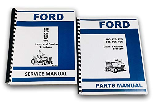 Ford 100 120 125 145 165 195 Lawn Garden Tractor Service Manual Parts Catalog ()