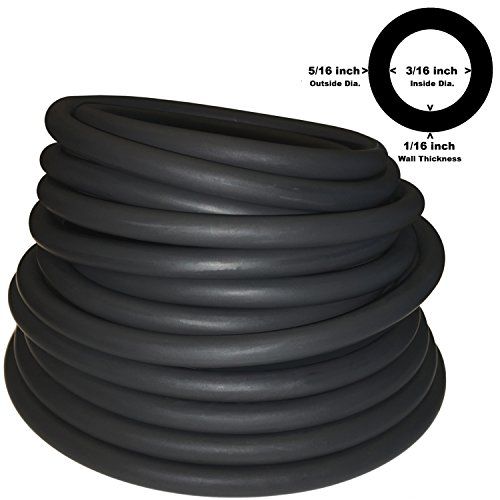 - 5/16IN OD 3/16IN ID LATEX TUBING (604 BLACK) 10FT