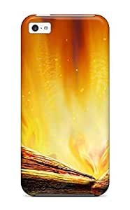 Iphone 5/5s Case Cover Skin : Premium High Quality Fire Artistic Abstract Artistic Case