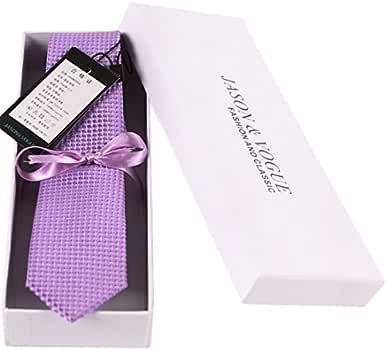 5cm lavanda Violeta Lunares corbata Diseño clásico corbata hombres ...