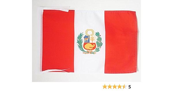 AZ FLAG Bandera de PERÚ 45x30cm - BANDERINA PERUANA 30 x 45 cm cordeles: Amazon.es: Hogar