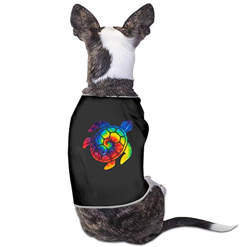 LzVong Tie Dye Hawaii Turtle Pet Clothing T Shirts Costume Vest Pet Suit]()