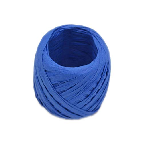 ONLY-FOR-ME-1 20 Meters/Roll Paper Rope Raffia Ribbon Natural Rope Gift Box Packing Bottle DIY Crafts Wedding Birthday Party Decorations,C12 ()