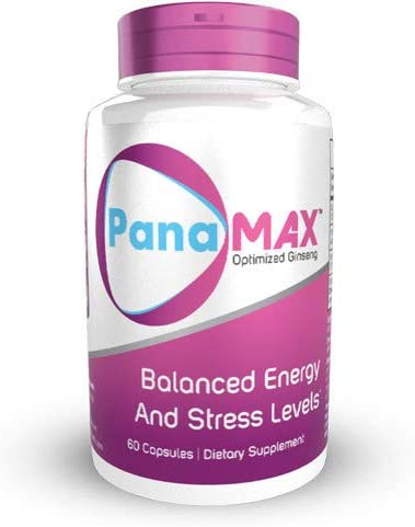 PanaMAX Capsules 60 Count Panax Ginseng Schisandra Chinensis Extract Supports Balanced Energy and Stress Levels