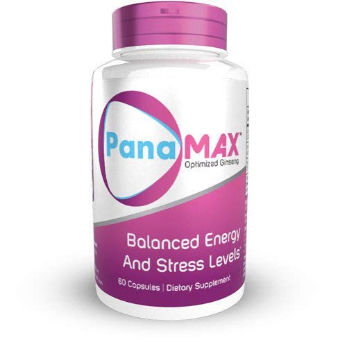 PanaMAX Capsules 120 Count Panax Ginseng Schisandra Chinensis Extract Supports Balanced Energy and Stress Levels