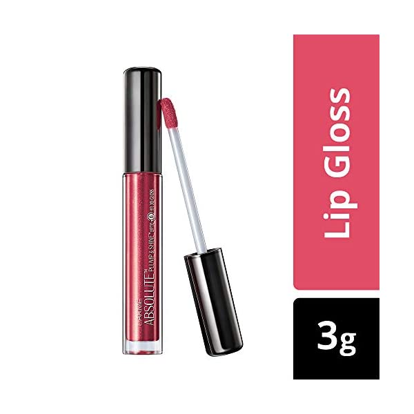 Lakmé Absolute Plump and Shine Lip Gloss, Pink Shine, 3ml 2021 July High-shine pigments Revolutionary 3d gloss Dermatollogically tested