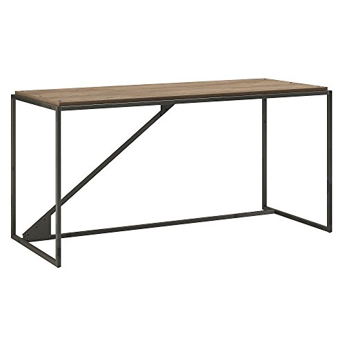 Bush Furniture Refinery 62W Industrial Desk in Rustic Gray (Tables For Industrial Sale)