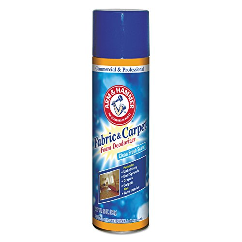 Arm & Hammer DC 33200-84128 CDC3320084128CT Fabric and Carpet Foam Deodorizer, Aerosol (Pack of 6) (Pet Stain And Odor Remover Arm And Hammer)