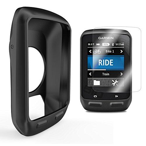 TUSITA Silicone Case Cover + Screen Protector For Garmin Edge 510 GPS Bike computer