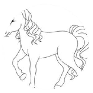 alfombrilla de ratón Colorear caballo - ronda - 20cm