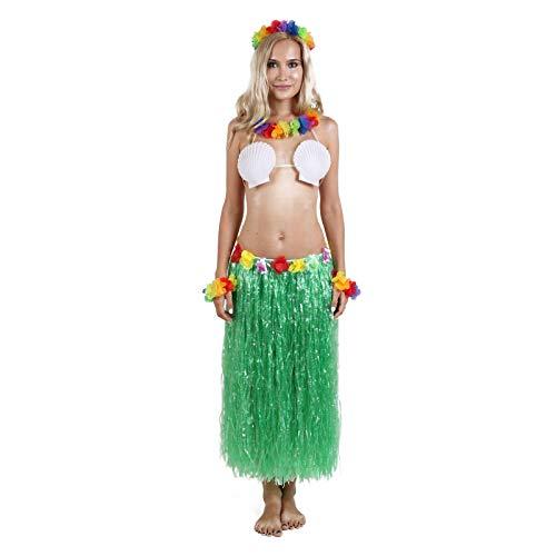 Hawaiian Grass Hula Dancer Skirt Luau Party Costume Events Elastic Waist - Long-Green