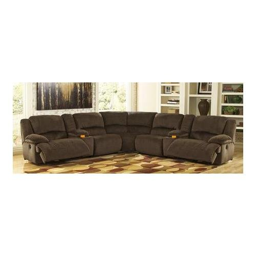 Ashley Toletta 56701SEC7PC 7-Piece Sectional Sofa with Left Arm Facing Zero Wall Recliner 2 Consoles 2 Zero Wall Armless Recliners Wedge and Right Arm Facing Zero Wall Recliner in (Sectional Wedge)