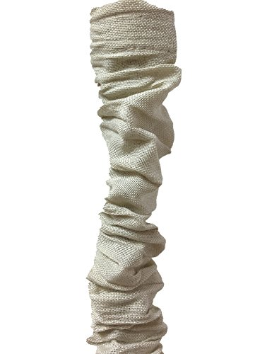 Royal Designs CC-1-LB Beige Cord & Chain Cover 4' Linen Fabric Touch Fastener, Linen Beige