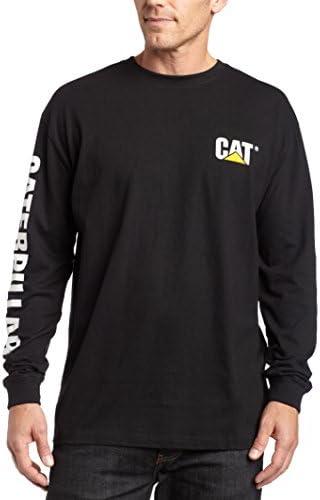 Caterpillar Men's Trademark Banner Long Sleeve T-Shirt (Regular and Big & Tall Sizes)