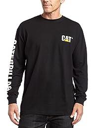 Caterpillar - Camiseta de Manga Larga para Hombre (Tallas Regulares, Grandes y Altas)