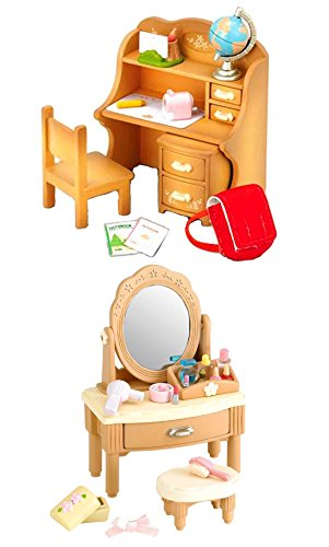 Critter Puffs (2 Sets - Furniture Theme - Vanity and Study Desk (Japan Import))