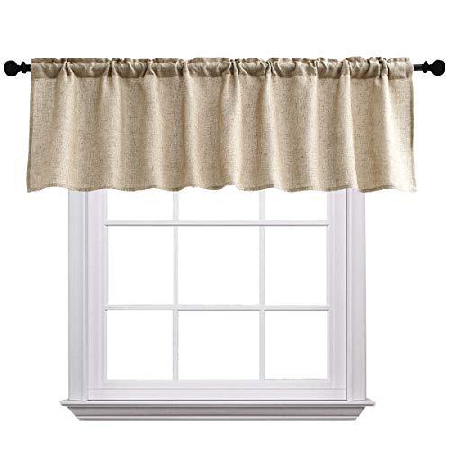 Curtain Valances for Windows Burlap Linen Window Curtains fo