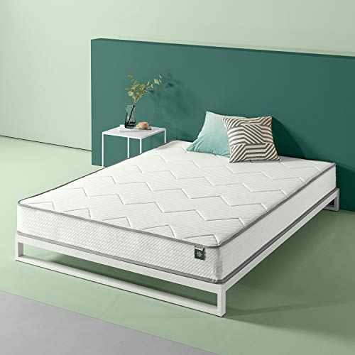 (Zinus 8in Charcoal Tight Top Bonnel Spring Mattress, Twin)