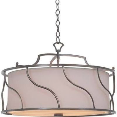 (Kalco 6416-HRB Helix - Five Light Convertible Pendant, Hand Rubbed Bronze Finish)