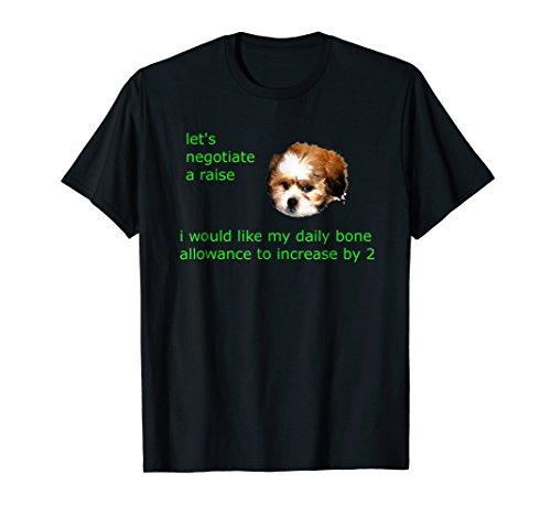 Funny Shih Tzu Wants Doggy Bone Allowance Graphic T-Shirt (Bone Shih Tzu)