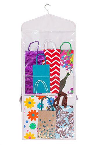 Double Sided Hanging Gift Wrap Amp Bag Organizer Storage