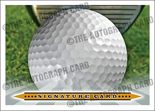 The Blank Autograph Card #GOLF PGA Universal Golf Signature Autographed Card - Ideal for Any PGA or NCAA Golfer (Huge Signing Area - Golf Ball Imprint Sweet Spot)
